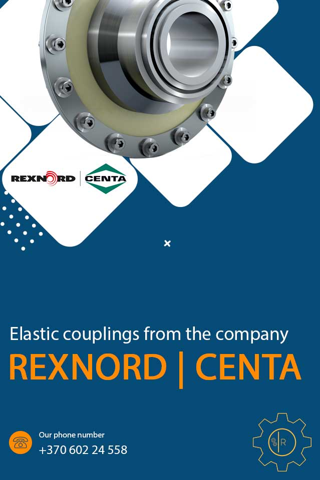 Elastic couplings from the company Rexnord Centa